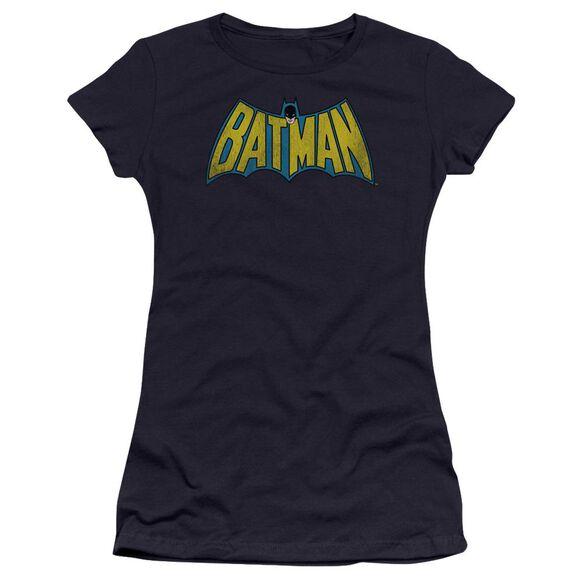 Dc Classic Batman Logo Premium Bella Junior Sheer Jersey