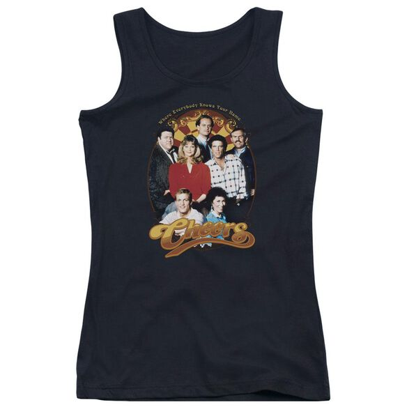Cheers Group Shot - Juniors Tank Top - Black