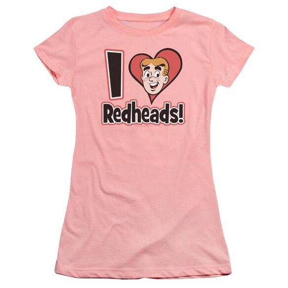 Archie Comics I Love Redheads Premium Bella Junior Sheer Jersey