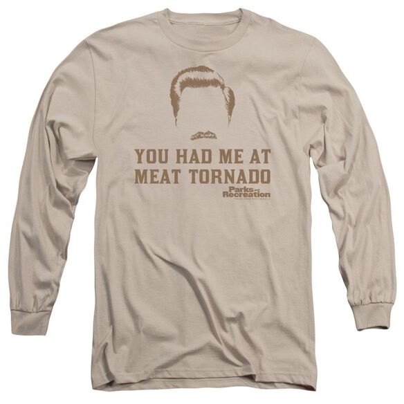 Parks And Rec Meat Tornado Long Sleeve Adult T-Shirt