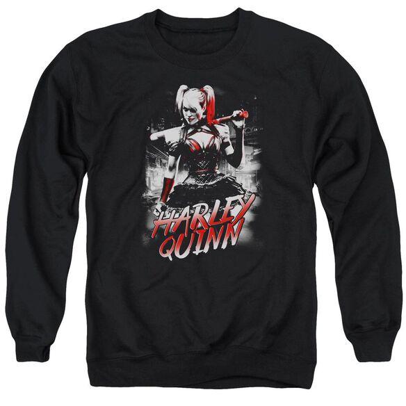 Batman Arkham Knight Quinn City Adult Crewneck Sweatshirt
