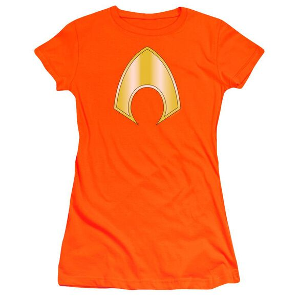 Jla Aquaman Logo Premium Bella Junior Sheer Jersey