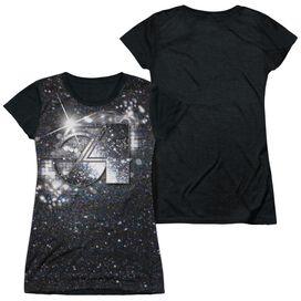 Studio 54 Senses Short Sleeve Junior Poly Black Back T-Shirt
