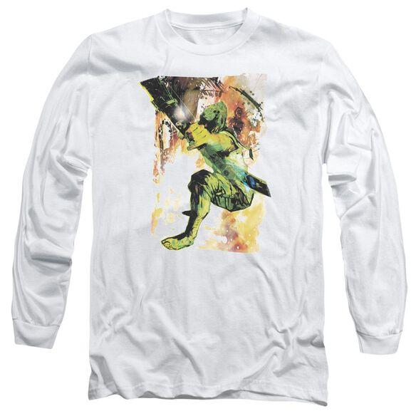 Jla Painted Archer Long Sleeve Adult T-Shirt