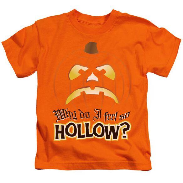 Hollow Short Sleeve Juvenile Orange T-Shirt