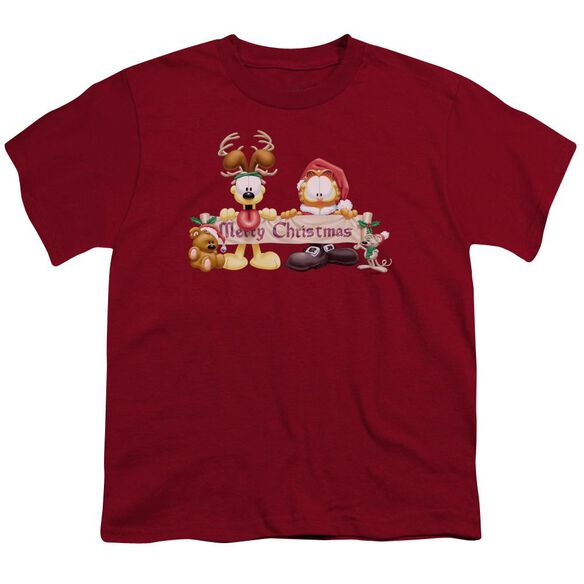 GARFIELD CHRISTMAS BANNER-S/S T-Shirt