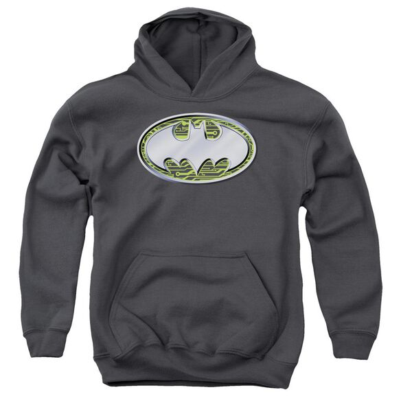 Batman Circuits Logo Youth Pull Over Hoodie