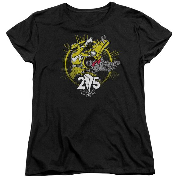 Power Rangers Yellow 25 Short Sleeve Women's Tee T-Shirt