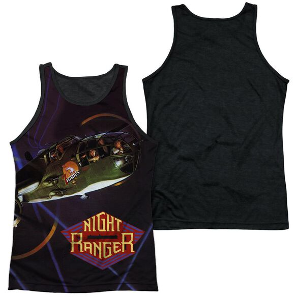 Night Ranger 7 Wishes Adult Poly Tank Top Black Back