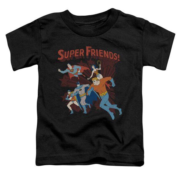 Dc Super Running Short Sleeve Toddler Tee Black Sm T-Shirt