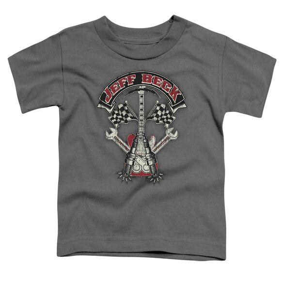 Jeff Beck Beckabilly Guitar Short Sleeve Toddler Tee Charcoal T-Shirt