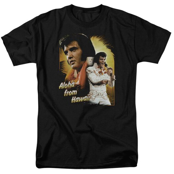Elvis Aloha Short Sleeve Adult T-Shirt