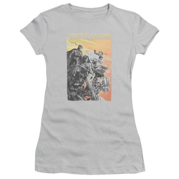 Jla Red Dawn Short Sleeve Junior Sheer T-Shirt