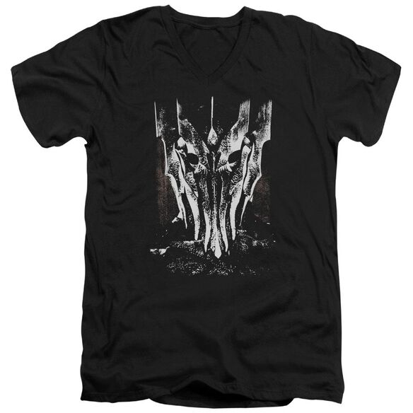 Lor Big Sauron Head Short Sleeve Adult V Neck T-Shirt