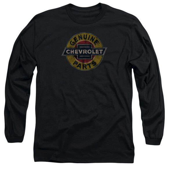Chevrolet Genuine Chevy Parts Distressed Sign Long Sleeve Adult T-Shirt