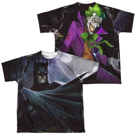 Infinite Crisis Batman Vs Joker (Front Back Print) Short Sleeve Youth Poly Crew T-Shirt