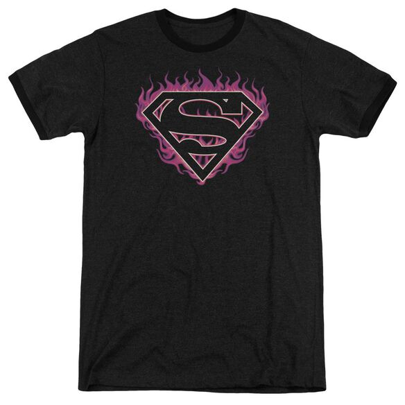 Superman Fuchsia Flames Adult Heather Ringer