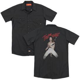Ted Nugent Rockin(Back Print) Adult Work Shirt