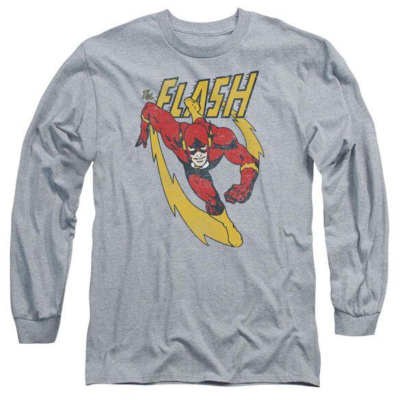 Jla Lightning Trail Long Sleeve Adult Athletic T-Shirt