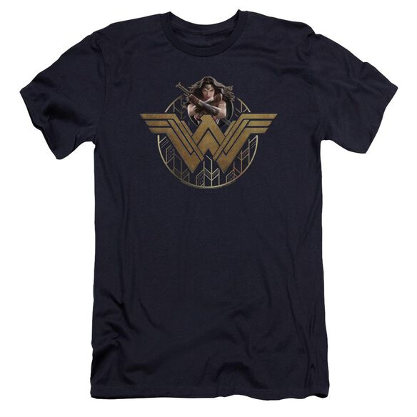 Wonder Woman Movie Power Stance And Emblem Hbo Short Sleeve Adult T-Shirt