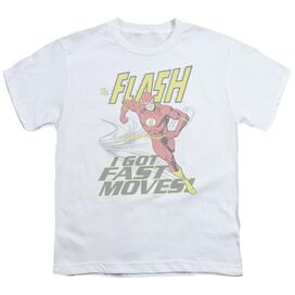 DC FLASH FAST MOVES - S/S YOUTH 18/1 - WHITE T-Shirt