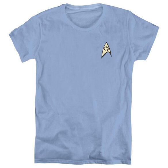 STAR TREK SCIENCE UNIFORM-S/S WOMENS T-Shirt