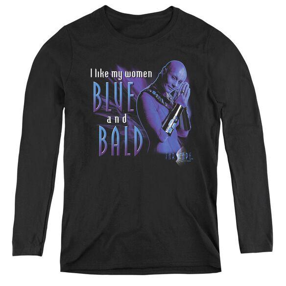 Farscape Blue And Bald - Womens Long Sleeve Tee