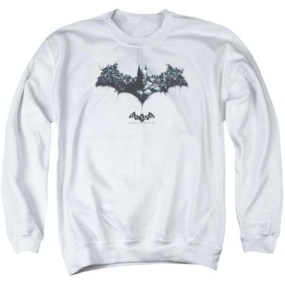 Batman Arkham Origins Bat Of Enemies Adult Crewneck Sweatshirt
