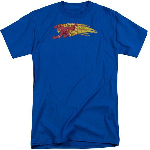 Dc Flash Fastest Man Alive Short Sleeve Adult Tall Royal T-Shirt