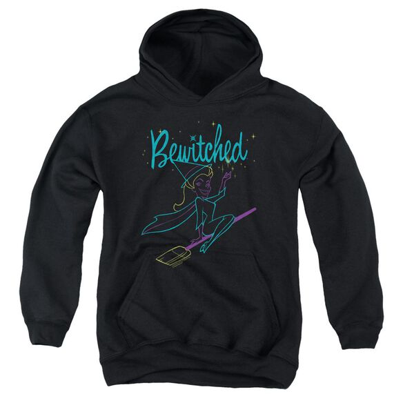 Bewitched Neon Lines Youth Pull Over Hoodie
