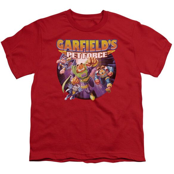 Garfield Pet Force Four Short Sleeve Youth T-Shirt