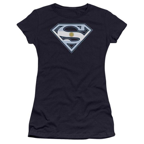 Superman Argentinian Shield Premium Bella Junior Sheer Jersey