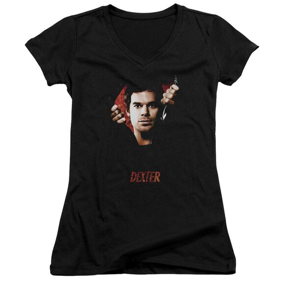 Dexter Body Bad Junior V Neck T-Shirt