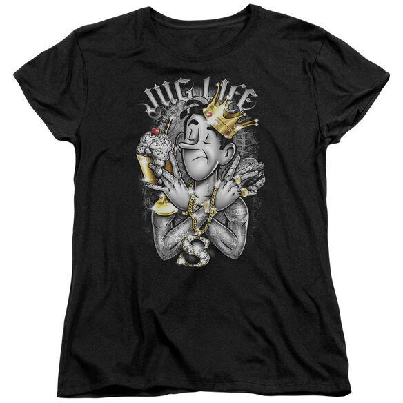 Archie Comics Jug Life Short Sleeve Womens Tee Black T-Shirt