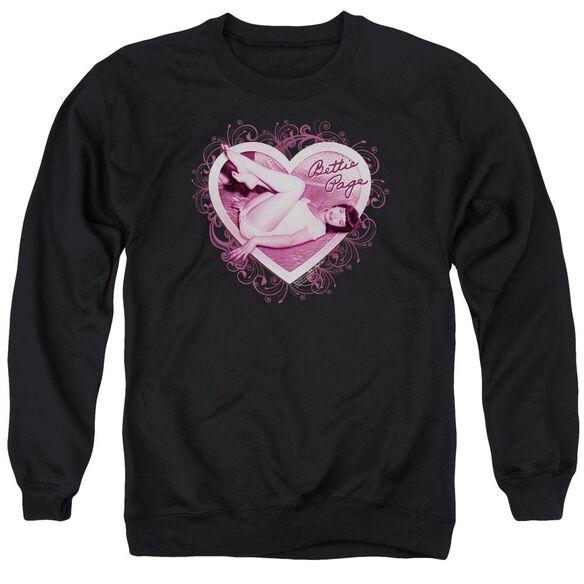 Bettie Page Light Hearted Adult Crewneck Sweatshirt