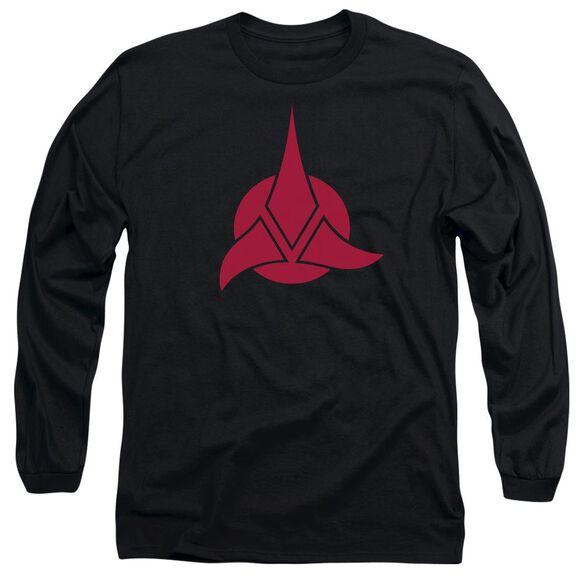 Star Trek Klingon Logo Long Sleeve Adult T-Shirt