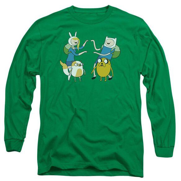 Adventure Time Meet Up Long Sleeve Adult Kelly T-Shirt