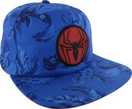 Spiderman Logo Floral Sublimated Buckle Hat