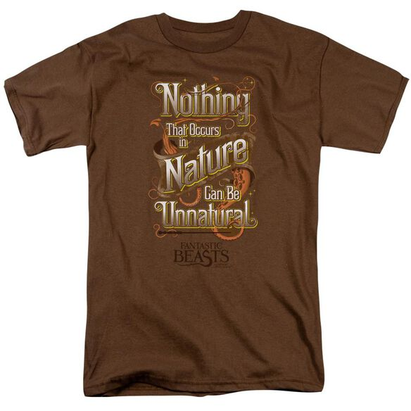 Fantastic Beasts Unnatural Short Sleeve Adult Coffee T-Shirt