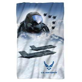 Air Force Pilot Fleece Blanket