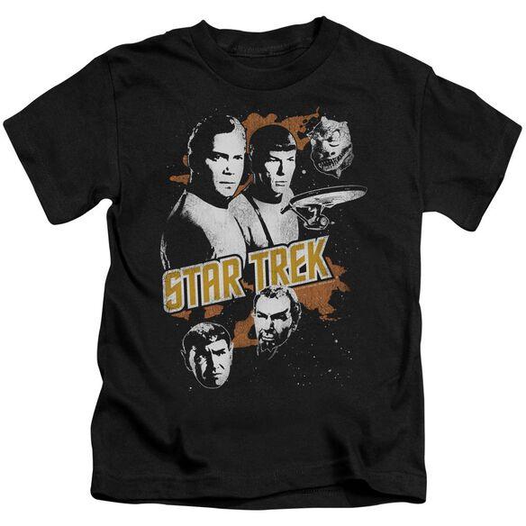 Star Trek Graphic Good Vs Evil Short Sleeve Juvenile Black T-Shirt