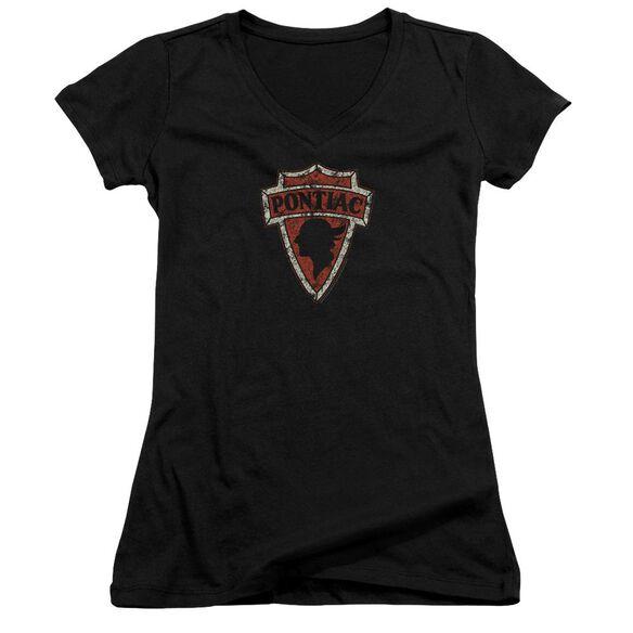 Pontiac Early Pontiac Arrowhead Junior V Neck T-Shirt