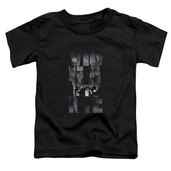 Batman V Superman Rainy Viglante Short Sleeve Toddler Tee Black T-Shirt