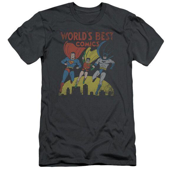 Jla World's Best Short Sleeve Adult T-Shirt