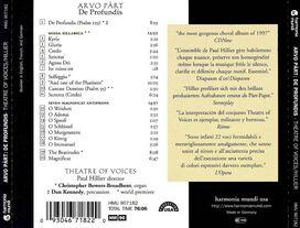 Theatre of Voices / Paul Hillier - Arvo Pärt: De Profundis