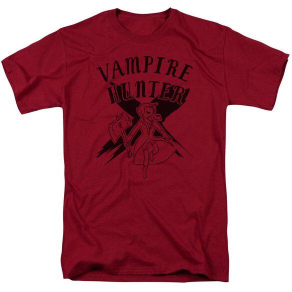 Adventure Time Vampire Hunter Short Sleeve Adult Cardinal T-Shirt