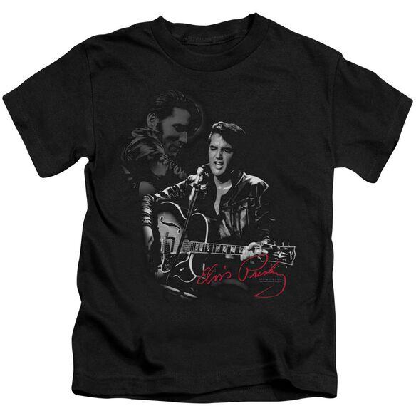 Elvis Show Stopper Short Sleeve Juvenile Black Md T-Shirt