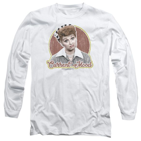 I Love Lucy Current Mood Long Sleeve Adult T-Shirt