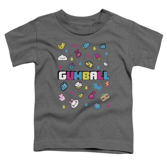 Amazing World Of Gumball Fun Drops Short Sleeve Toddler Tee Charcoal T-Shirt