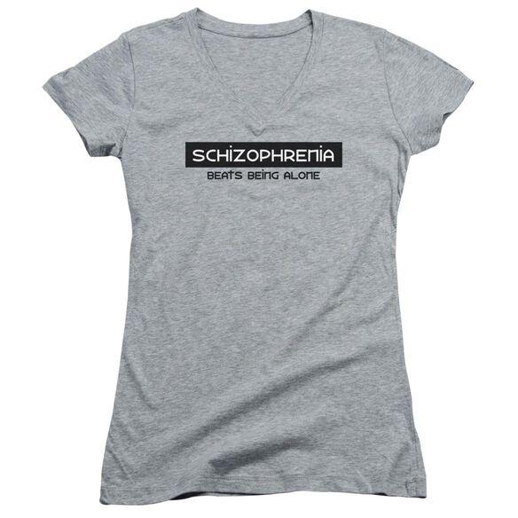Schizophrenia Junior V Neck Athletic T-Shirt